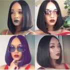 Flawless luxury hair perruque avec closure coupe carre